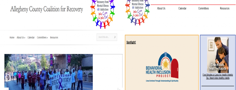 Coalition for Recovery Website